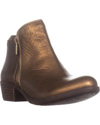 Lucky Brand - Basel Side Zip Ankle Boots, Old Bronze - Lyst
