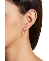 Adornia - Sterling Silver Wrap Around Diamond Shaped Earrings - Lyst