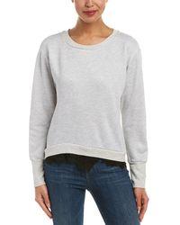 Nation Ltd - Peek Of Lace Sweatshirt - Lyst
