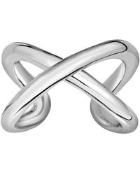 Jewelry Affairs - Sterling Silver Cross Over X Design Ring, Size 7 - Lyst