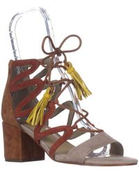 Marc Fisher - Rayz Lace Up Sandals, Taupe Suede - Lyst