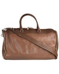 62c2c1e882 Brunello Cucinelli - Mens Brown Leather Travel Fold Up Garment Bag - Lyst