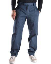 Mauro Grifoni - Men's Blue Cotton Pants - Lyst