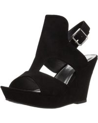 2ded7738a39 Rampage - Womens Ram-camillas Fabric Open Toe Casual Platform Sandals - Lyst