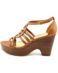 Lauren by Ralph Lauren | Womens Raegan Leather Open Toe Special Occasion Strapp... | Lyst