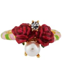 Les Nereides | Balad In Versailles Roses And Pearl Ring | Lyst