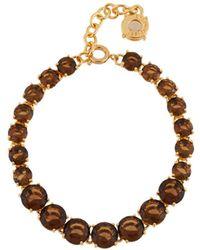 Les Nereides - La Diamantine Smoky Quartz One Row Luxurious Bracelet - Lyst