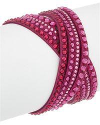 Swarovski | Crystal Leather Wrap Bracelet | Lyst