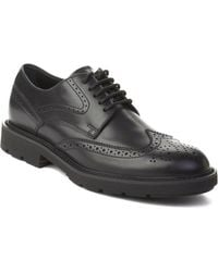 Tod's - Men's Leather Brogue Oxford Shoes Black - Lyst