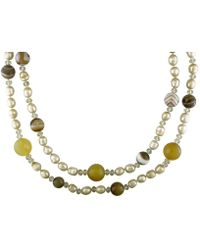 Catherine Malandrino - Freshwater Cultured Pearl And Gems Bead Necklace - Lyst