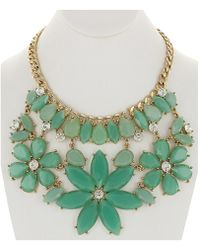 Sparkling Sage - 14k Plated Resin Necklace - Lyst