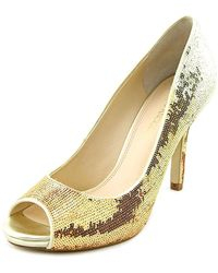 Enzo Angiolini - Womens Maiven Leather Peep Toe Classic Court Shoes - Lyst