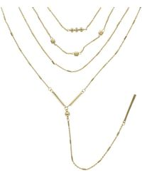 Sparkling Sage | 14k Plated Multi-strand Necklace | Lyst