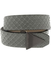 Nada Sawaya - The One - Python And Satin Black Nickel-tone Bracelet - Lyst