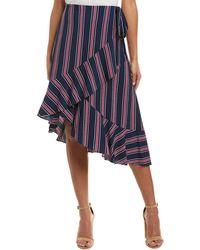 Laundry by Shelli Segal - Wrap Skirt - Lyst