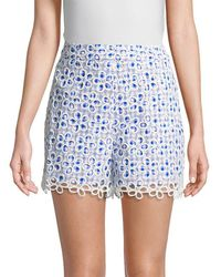 Anna Sui - Gingham-and-daisies Short - Lyst