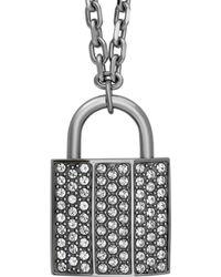 Swarovski   Crystal Case Plated Necklace   Lyst