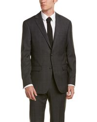 Ike Behar - 2pc Wool-blend Smart Suit With Flat Front Pant - Lyst