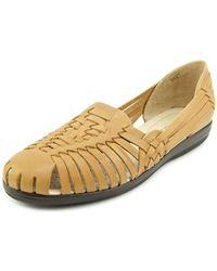 Softspots - Trinidad Round Toe Leather Flats - Lyst