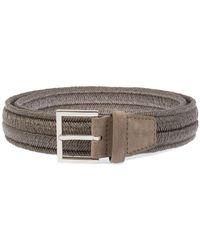 Orciani - Men's U07369nebbia Beige Cotton Belt - Lyst