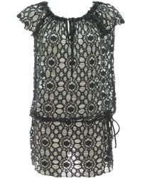 Banana Moon - Beachwear Femme Tunic Seethrough James Black - Lyst