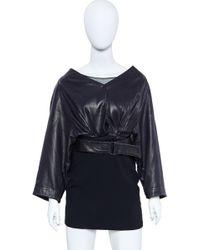 Alaïa - Vintage Alaia Leather Jacket 1980's Size 6 - Lyst