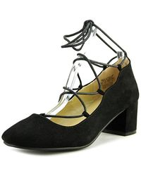 Wanted - Shoes Womens Abby Round Toe Ankle Wrap Classic Court Shoes - Lyst