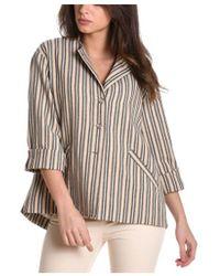 Manila Grace - Women's Beige Cotton Jacket - Lyst