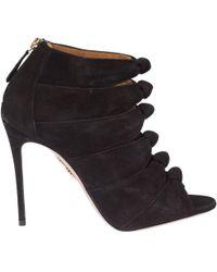 Aquazzura - Women's Nashigs0sue000 Black Suede Sandals - Lyst