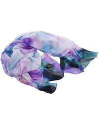 Elie Saab - Women's Purple Silk Scarf - Lyst