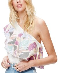 Free People - Annka Bubble One-shoulder Top Blouse - Lyst