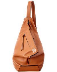Loewe - Anton Small Leather Backpack - Lyst