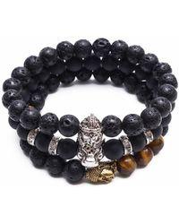 Something Strong - Bundle Of 3 Beaded Zinc Alloy Bracelets - Lyst