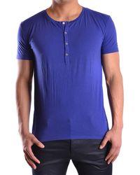 CoSTUME NATIONAL - Men's Mcbi074043o Blue Cotton T-shirt - Lyst