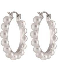 Splendid - Fancy Full Hoop Pearl Earrings - Lyst