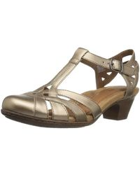 Cobb Hill - Womens Aubrey Leather Closed Toe Casual Strappy Sandals - Lyst