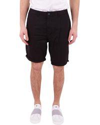 Scotch & Soda - Men's Black Cotton Shorts - Lyst