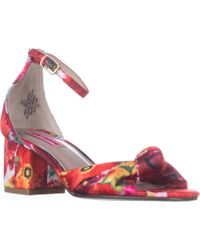 Betsey Johnson - Ivee Ankle Strap Sandals, Floral - Lyst