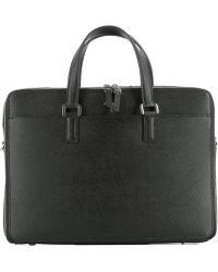 Serapian - Men's Black Leather Handbag - Lyst