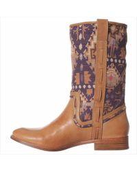 Ella Moss - Womens Renee Leather Almond Toe Mid-calf Cowboy Boots - Lyst