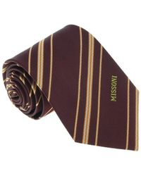 Missoni - U5026 Brown/orange Regimental 100% Silk Tie - Lyst