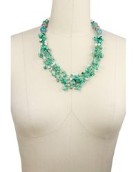 Saachi - Turq Beaded Stone Necklace - Lyst