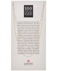 Dogeared - 100 Good Wishes Silver 39in Necklace - Lyst