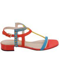 Loriblu - Women's Multicolor Suede Sandals - Lyst