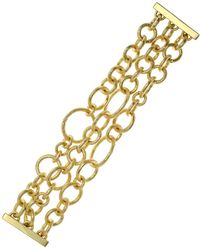 Jardin - 3 Row 'brushed' Links With Magnetic Closure - Lyst