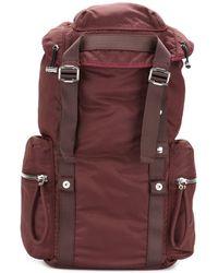 Diesel Black Gold - Men's Burgundy Polyamide Backpack - Lyst