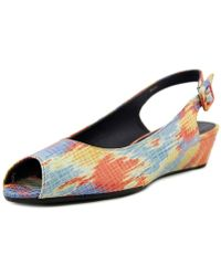 Vaneli - Elrica Peep-toe Synthetic Slingback Heel - Lyst