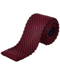 Cole Haan - Navy & Red Knit Silk Tie - Lyst