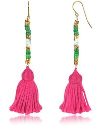 Aurelie Bidermann - Women's Pink Steel Earrings - Lyst