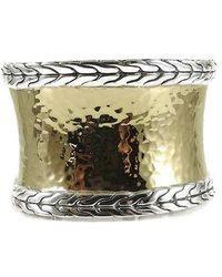 John Hardy - Sterling Silver 22k Wide Palu Cuff Bracelet - Lyst